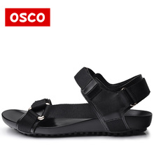 Summer Fashion New Style Men Genuine Leather Sandals  Comfortable Breathable Casual Sandals Shoes For Men Brand OSCO#RU0013