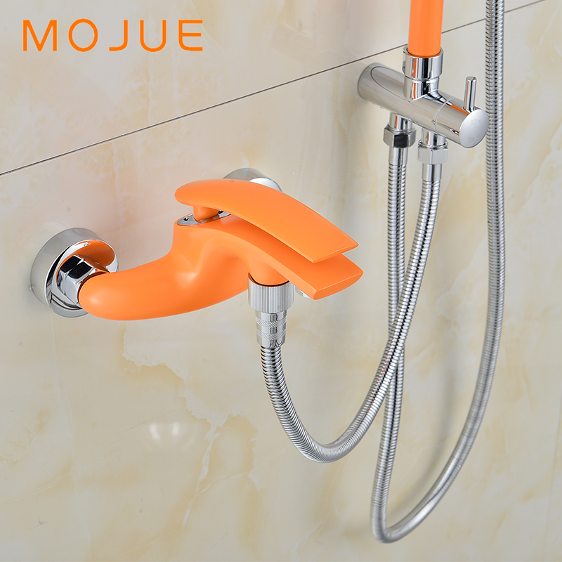 MOJUE New Arrival Rain Shower Multi Color Faucet Shower tap Brass ...