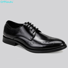 Italian Brogues Men Dress Shoes Genuine Leather High Quality Cow Leather Black Brown Wine Red Luxury Shoes Oxford new high quality tassel men oxford shoes genuine leather luxury italian brand brogue vintage men s dress shoes black and brown