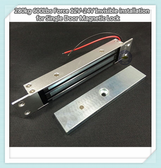 280kg 600lbs Force 12vInvisible Installation for Single Door Magnetic Lock280kg 600lbs Force 12vInvisible Installation for Single Door Magnetic Lock