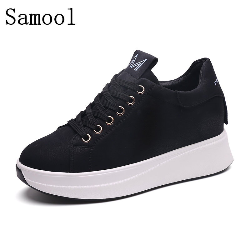 2017 Autumn Winter Genuine Leather Shoes Handmade Tenis Feminino Sapato Women Casual Shoes Basket Femme Casual Shoes туфли на высоком каблуке tenis feminino femininos sapatos sapato feminino platform shoes