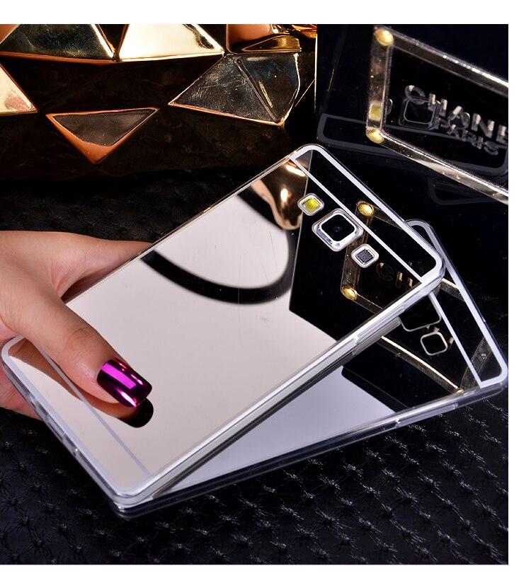 Дело Капа Para Fundas роскоши зеркало Coque ТПУ мобильный телефон сумка задняя крышка для Samsung <font><b>Galaxy</b></font> <font><b>a5</b></font> a500 S5 S6 S7 Edge Примечание 5