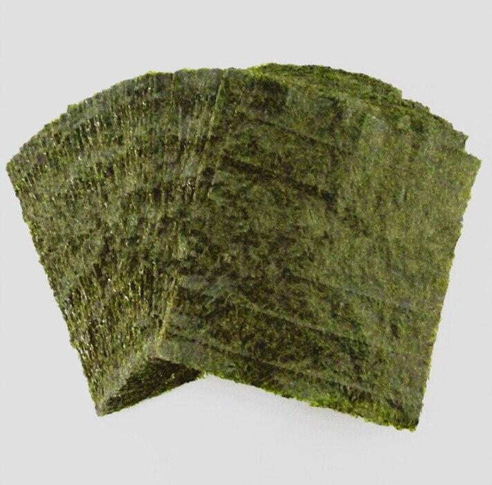 100 шт. суши нори морские водоросли, оптовая продажа с фабрики, качество AAA, темно-зеленая вторичная выпечка Нори Суши algues, Самые продаваемые Нори Суши-2