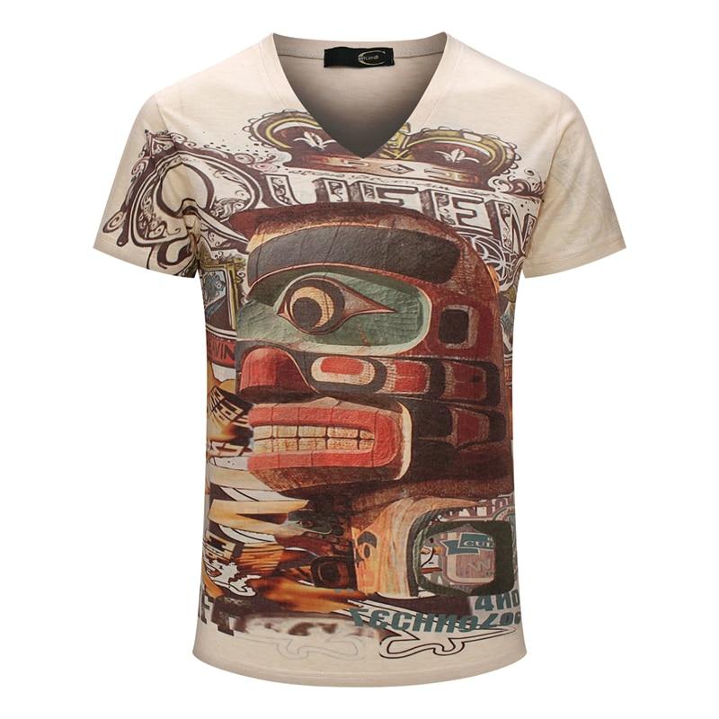 Homem de Impressão 3D T-Shirt Clássico Da Moda do vintage Grande Marca Slim  T-Shirt A1262 f1b92c16c32