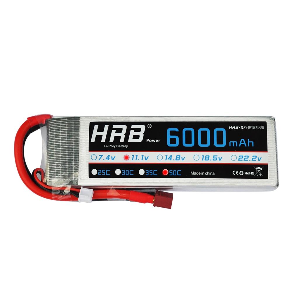 HRB RC Lipo Battery 11.1V 6000mAh 50C Max 100C AKKU Batteria for RC Model Trex 500 Helicopter Traxxas Car Boat mos rc airplane lipo battery 3s 11 1v 5200mah 40c for quadrotor rc boat rc car