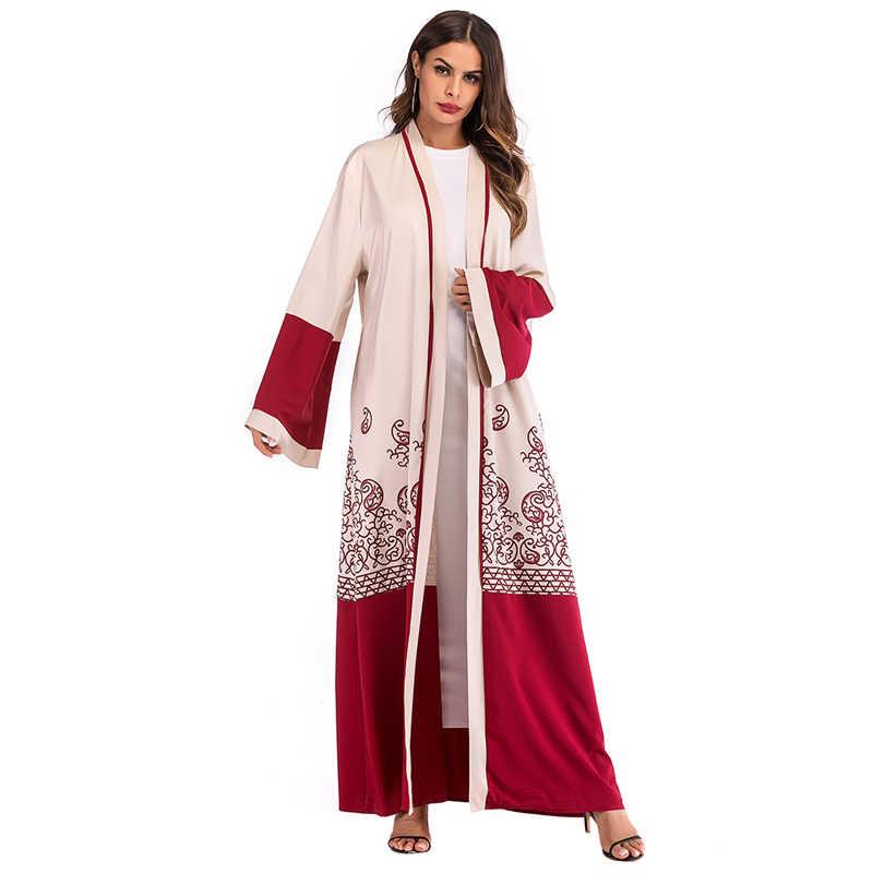 Kaftan Abaya szata dubaj kardigan kimono hidżab muzułmaninem sukienka katar zjednoczone emiraty arabskie Kaftan marokański Abayas dla kobiet turecki islamski odzież