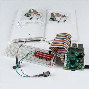 Image 4 - SunFounder Sensore di Base Kit per Raspberry Pi 3, 2 e rpi 1 modello b + con 40 spille gpio extension board fili di salto