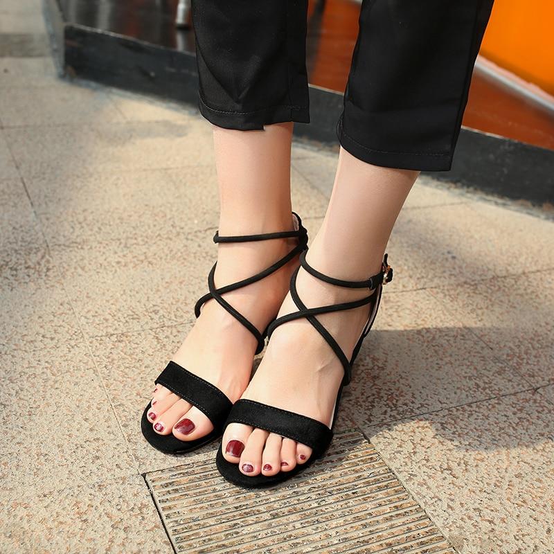 Chaussures Femmes apricot forme V140 Noir 2018 Talons Ouvert Nouvelles Hauts D'été Dames Plate Gladiateur De Bout Sandales a5RnEqwRx6