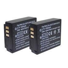 2 шт. CGA-S007E CGA S007E S007 S007A BCD10 Камера батареи/USB кабель для Panasonic Lumix DMC TZ1 TZ2 TZ3 TZ4 TZ5 TZ50 TZ15 Батарея аксессуары