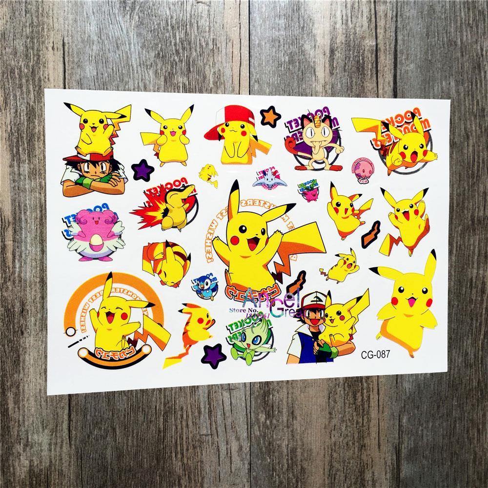 Pokemon Go Temporary Flash Tattoo Sticker / ACG087 Waterproof Body ...