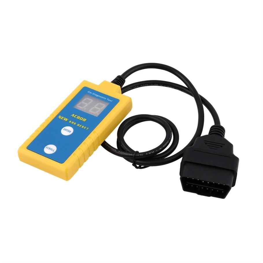 Prix pour Nouveau AC808 Mémo SRS Airbag Réinitialisation Outil De Diagnostic Scanner Lecteur de Code Pour BMW vente chaude