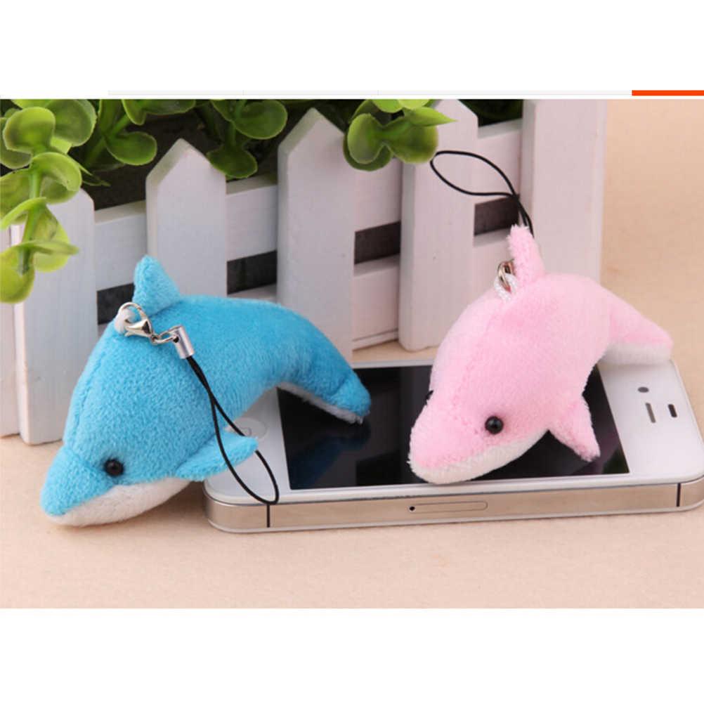 Новое милое автомобильное кольцо для ключей, ремешки для телефона, мини-чучело дельфина, игрушка, брелок с игрушкой, свадебный подарок, украшение для букета 6 см