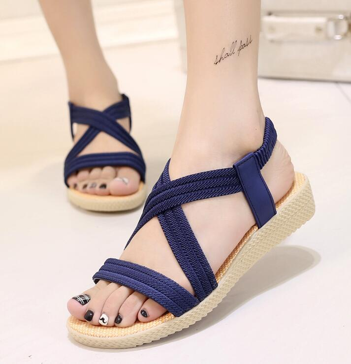 New Summer Women Sandals Bohemia Comfortable Ladies Shoes Beach Gladiator Sandal Women Casual Shoes Simple Female Shoes m435New Summer Women Sandals Bohemia Comfortable Ladies Shoes Beach Gladiator Sandal Women Casual Shoes Simple Female Shoes m435