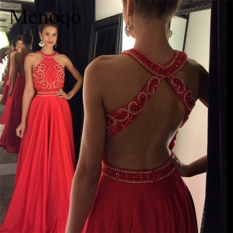 Red Charming   Prom     Dresses   Long Beading vestidos formatura Crystal Formal Evening Party Gowns   Dress   Galajurken