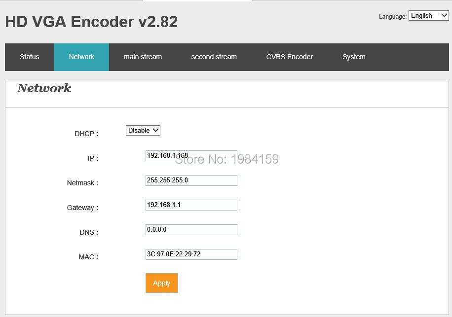 H 264 VGA IPTV Encoder VGA VIDEO ENCODER Support RTMP and Onvif in Radio TV Broadcast Equipments from Consumer Electronics