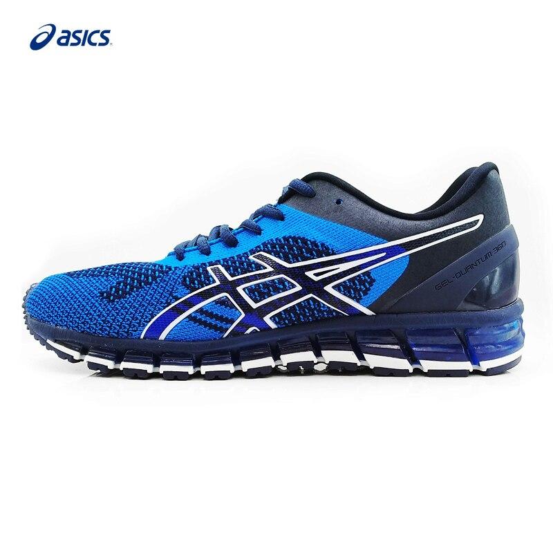 D'origine ASICS GEL-QUANTUM 360 TRICOT Hommes de Stabilité De Marche Chaussures ASICS Sport Chaussures Sneakers En Plein Air vente Walkng Jogging T728N