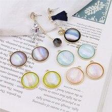4 pcs/lot korea alloy drop oil blooming gradient color cloud  statemen earrings for women material diy ear jewelry accessories
