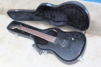 Factory Custom Shop Ash Body Natural Wood Blue Black machine B7 Special Shape 7 Strings Electric Guitar with case 2015 625