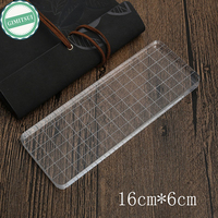 Rectangle Acrylic PlateStamp Accessories Helper DIY Scrapbooking Photo Album Transparent Clear Essential Tools Stamp Acrylic Pad