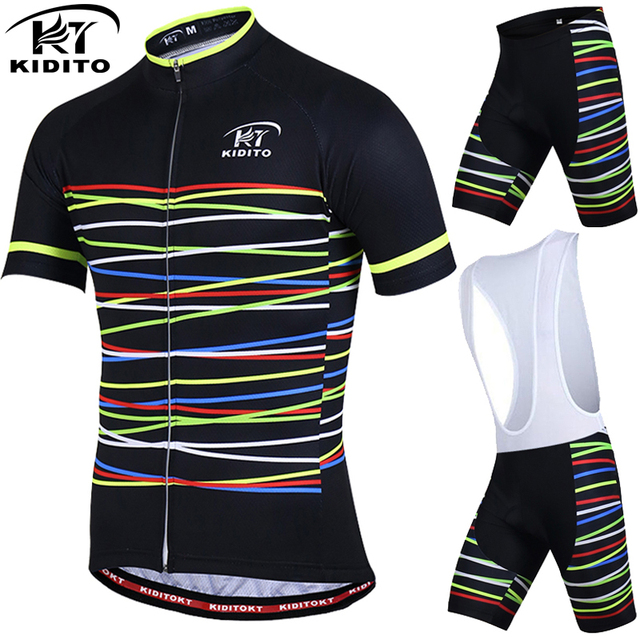 KIDITOKT Breathable Pro Cycling Clothing Cycling Sets Mountain Bicycle  Clothes Cycling Jersey Set MTB Bike Sportwears 73d7b1959