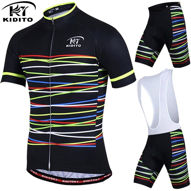 KIDITOKT Pro Respirável Roupas de Ciclismo Ciclismo Conjuntos de Roupas Conjunto Camisa de Ciclismo MTB Da Bicicleta Da Bicicleta de Montanha Sportwears