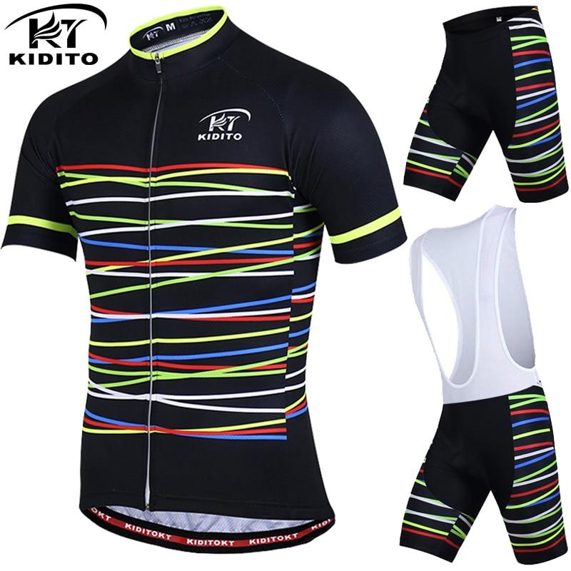 KIDITOKT Respirant Pro Vêtements de Cyclisme Cyclisme Définit Montagne Vélo Vêtements Cyclisme Maillot VTT Vélo Sportwears