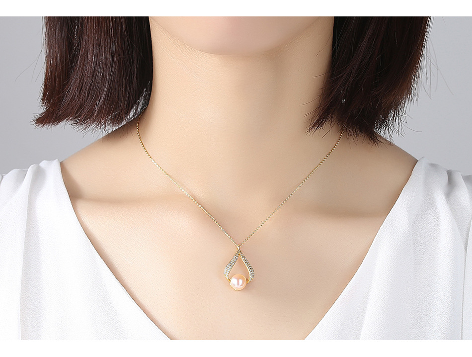 S925 sterling silver pearl necklace pendant micro-inlaid zircon fashion female necklace accessories MGB01S925 sterling silver pearl necklace pendant micro-inlaid zircon fashion female necklace accessories MGB01