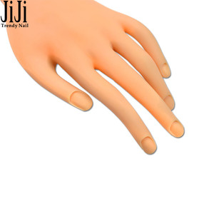 Image 3 - 1pc Nail Art Fake Hand for Training Flexible Soft Plastic Finger Nails Mannequin Prosthetic Model Practice Display Tools JIND275