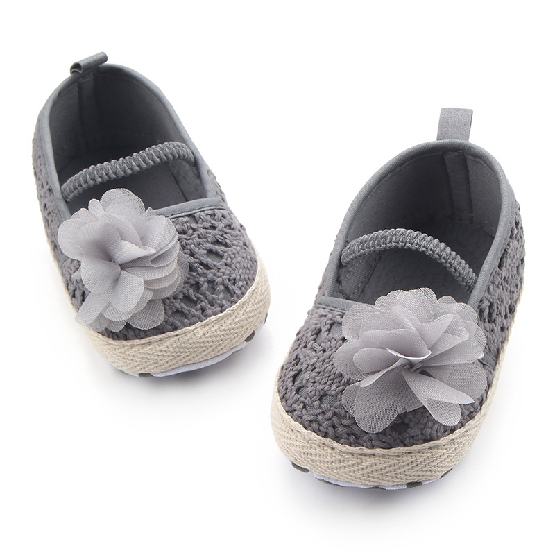 2018 Spring Autumn New Baby Girl The First Walker Shoes Hollow  Flower Soft Elastic Band Baby Shoes Fashion Children\\\'s Shoe