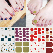 Lamemoria 7sheets Nail Art Stickers Smudged Nail Polish Designs DIY 3D Sticker Waterproof Manicure 2019 New Toenail Tips Set 3d nail art fimo soft polymer clay fruit slices cartoon for nail manicure sticker cell phones diy designs wheel decoration czp35