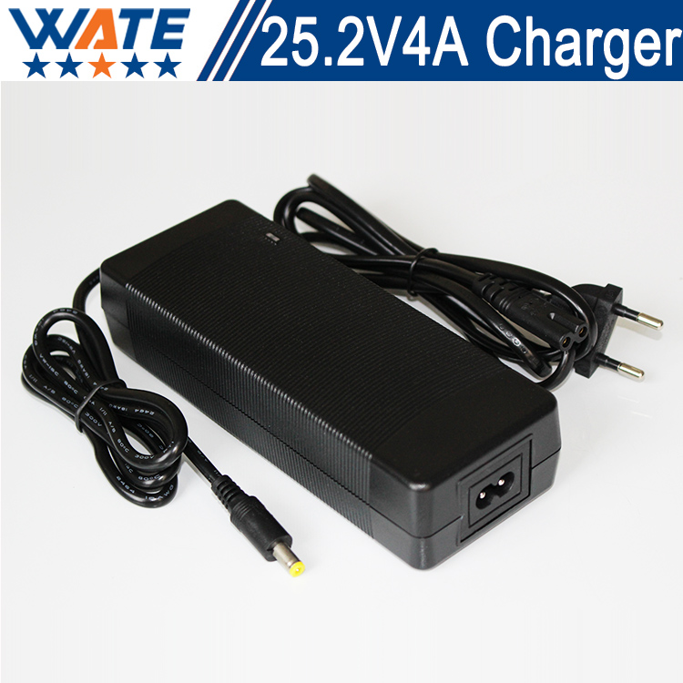 25.2V 4A Charger 6S 22.2V Li-ion Battery Charger Output DC 25.2V Lithium polymer battery Charger Free shipping