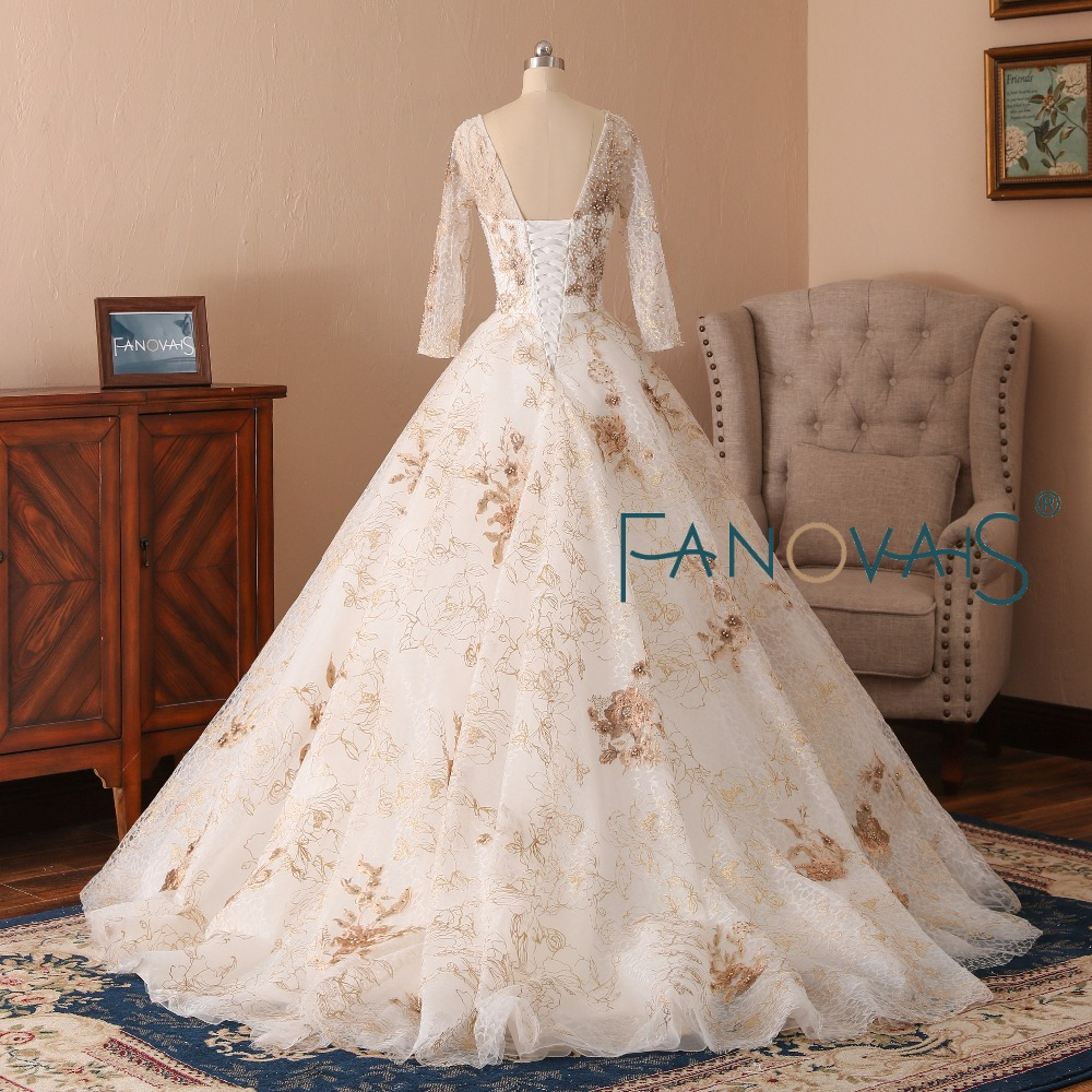 Medium Of Gold Wedding Dresses