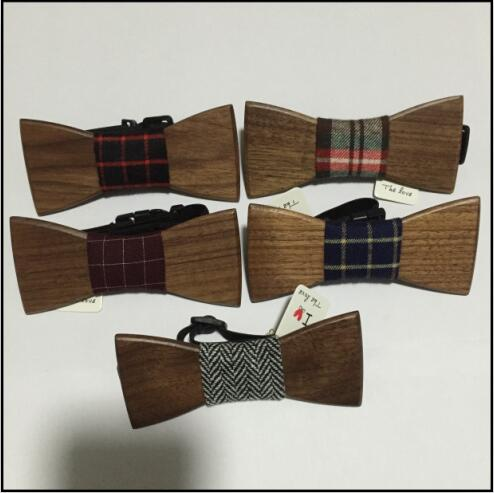 Creative Fashion Style New Men Wood Bow Tie Tuxedo Cocktail Party Magnetic Christmas gifts