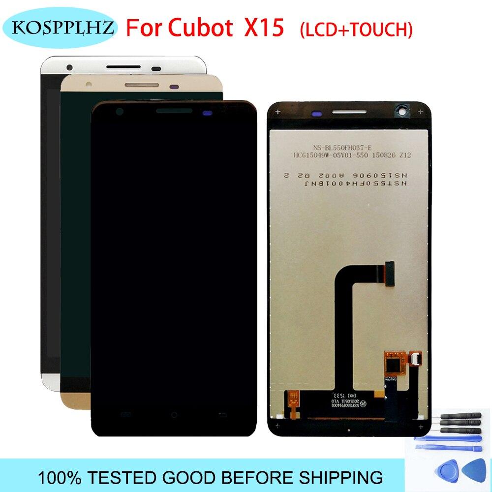 Оригинальный KOSPPLHZ белый/золото ЖК дисплей сенсорный экран планшета Ассамблеи Нет рамки для Cubot x15 x 15 Инструменты + клей