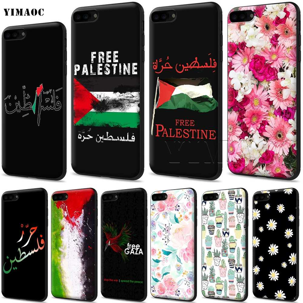 YIMAOC Palestine Flag Silicone Soft Case for iPhone 11 Pro XS Max XR X 8 7 6 6S Plus 5 5S SE
