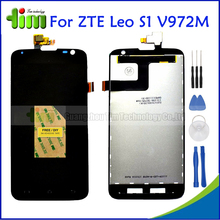 ZTE V972 5.0 inch Black LCD Display+Touch Screen Digitizer Assembly Original New For ZTE Leo S1 V972M Replacement Parts+Tools