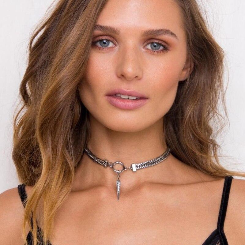 Shinny Spike Snake Chian Choker Necklace, Hottest Punk Style, Women's 2017 Fashion Jewelry