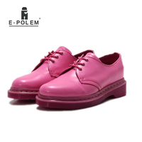 Genuine Leather Oxford Shoes for Women Rose Red Womens Flat Shoes Moccasins Suede Ladies Casual Dress Driving Shoe 2017