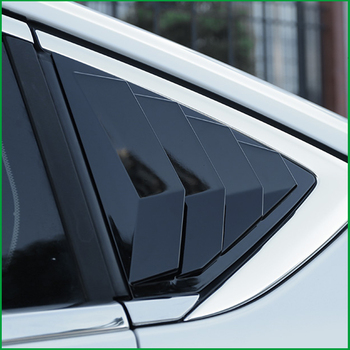 For Buick Regal Opel Insignia 2017 2018 Sedan Rear Window Blind shades Louver Frame Sill Molding Cover Sticker Trim Car Styling