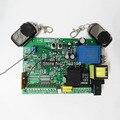 Alta Qualidade 110 V/220 V AC abridor de portão deslizante placa de controle + 2 pcs controle remoto, a aprendizagem código