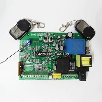High Quality 110V/220V AC sliding gate opener control board + 2pcs remote control,learning code