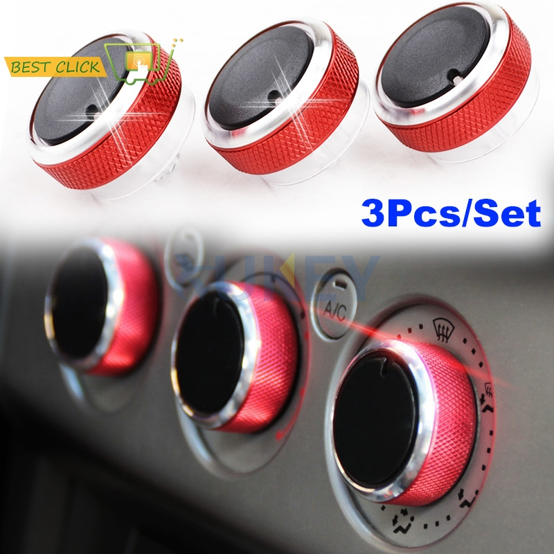 Car AC Heater Switch Button Cover Knob Fits For Ford Focus MK2 MK3 Mondeo C//S-max