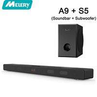 TV Soundbar Subwoofer Home Theater Surround Sound System Audio Wireless Bluetooth Stereo Speakers for TV Laptop PC Phone 60W