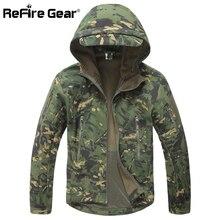 Скрытень Акула мягкая оболочка Военная тактическая куртка мужская водонепроницаемая теплая ветровка пальто камуфляжная куртка с капюшоном армейская одежда США