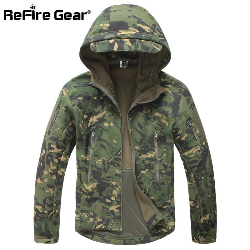 TAD V 4.0 Lurker Shark Skin Military Tactical Softshell Outdoor Jacket Men Waterproof & Windbreak Hunting Thermal Fleece Hoodies sweatshirt
