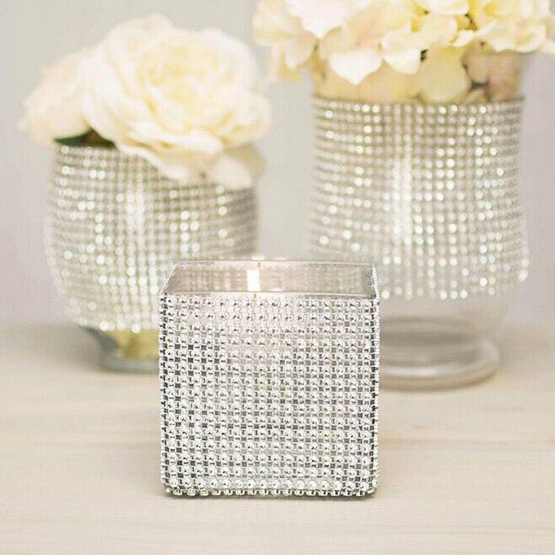 1 həyət Qızıl Sver Mesh Trim Bling Diamond Wrap Roll Tul Kristal - İncəsənət, sənətkarlıq və tikiş - Fotoqrafiya 5