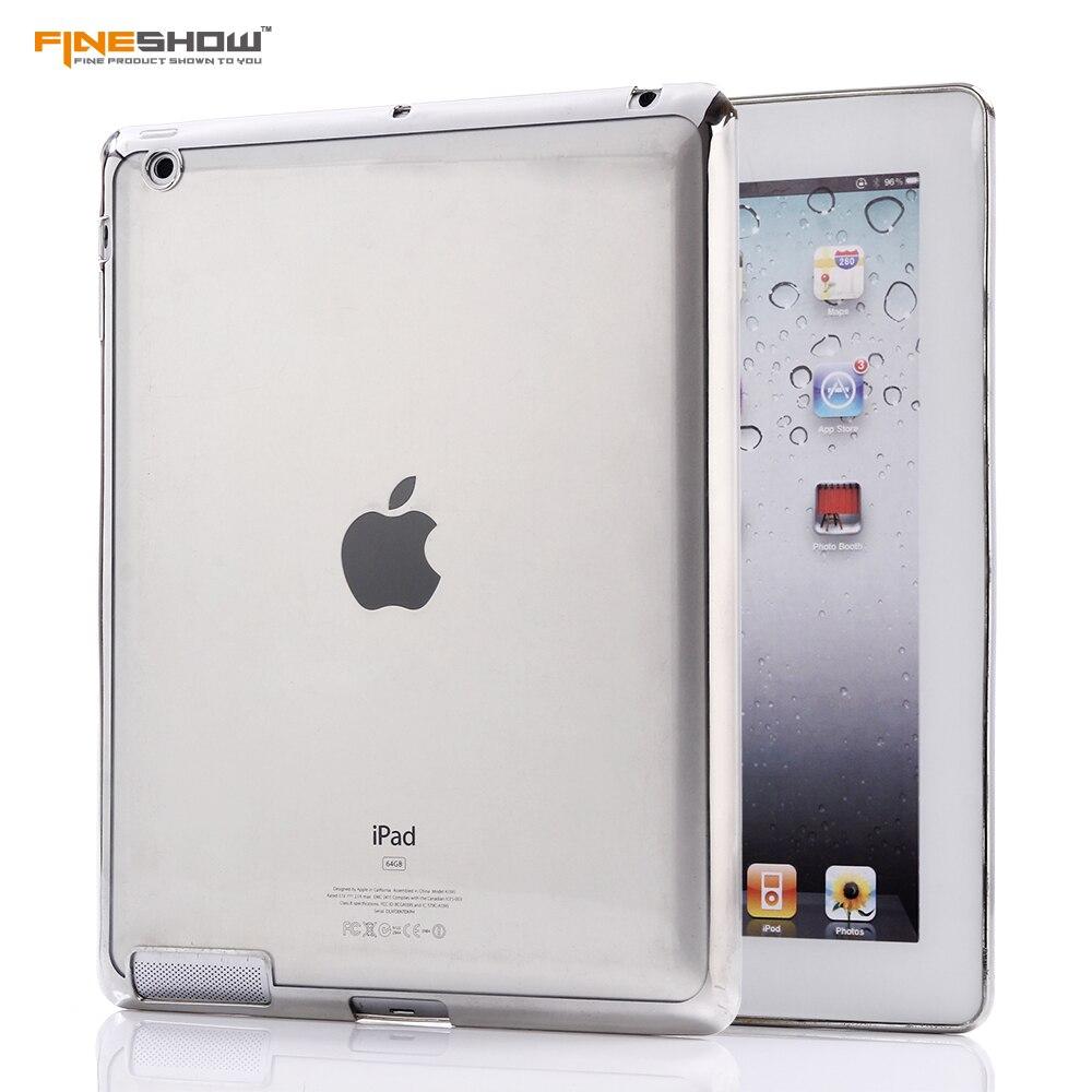 FINESHOW Electroplated transparent Soft TPU For Apple iPad 4 iPad3 iPad 2