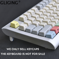 87/104/108 Key OEM CANVAS Macaron Color Jelly Surface PBT Keycaps Filco Keycap For Mechanical Keyboard