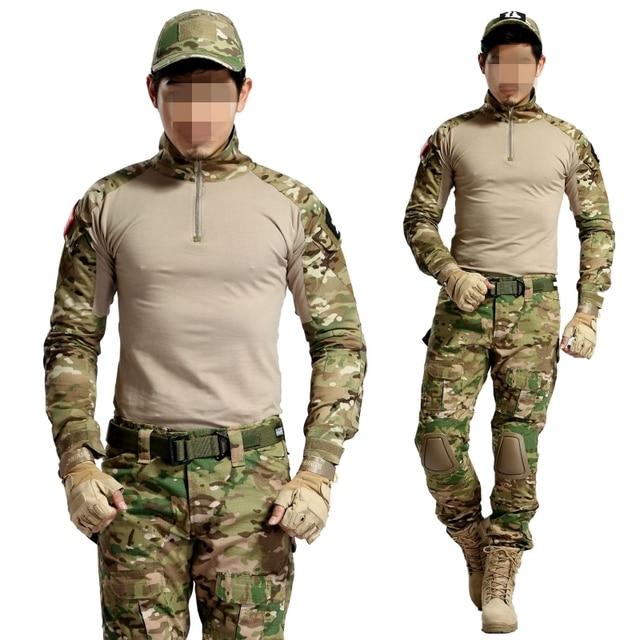 Multicam Camouflage Tactical BDU Uniform Camo Men Airsoft Sniper Paintball Military Suit Combat Shirt Pants Hunting Clothes 3