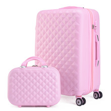 2PCS/SET 20 22 24 28 inches students trolley case Travel spinner Password luggage woman rolling suitcase fashion new Cosmeticbag()